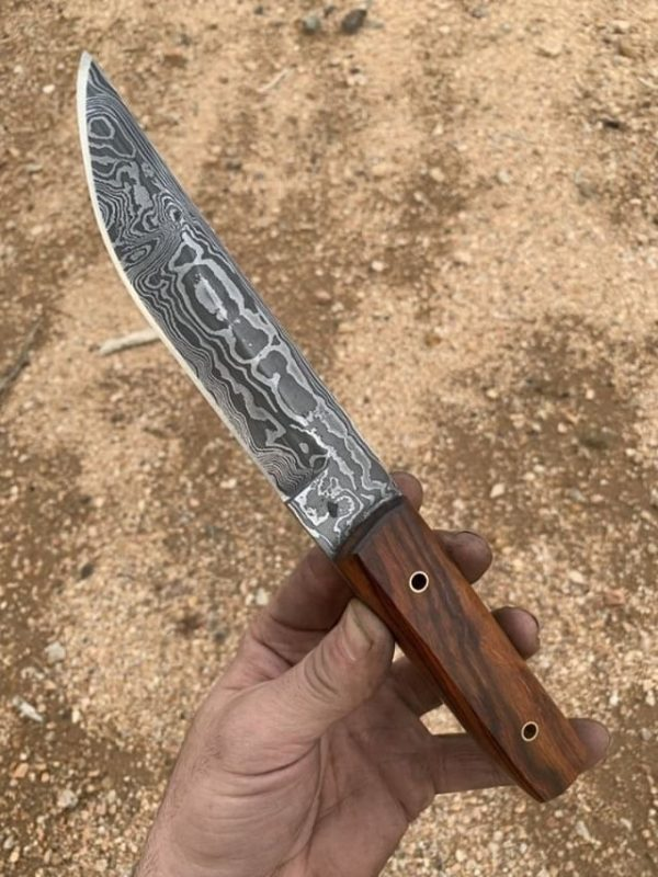 Hand forged Damascus Kwaiken